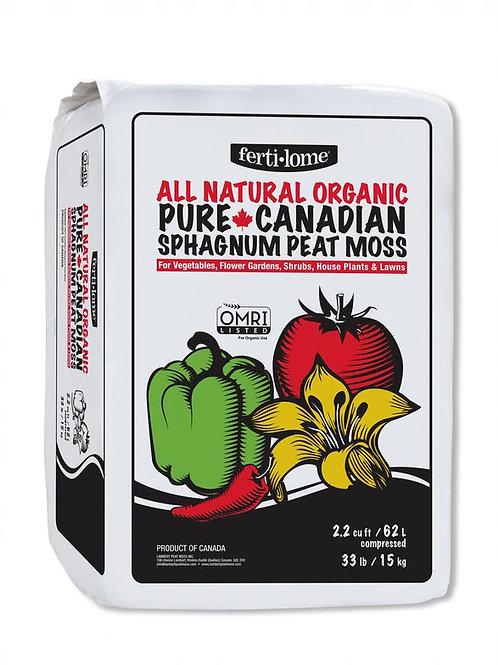 Fertilome Organic Pure Canadian Peat Moss 2.2 CF