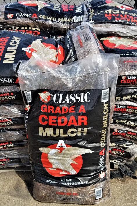 Grade A Cedar Mulch 3cf
