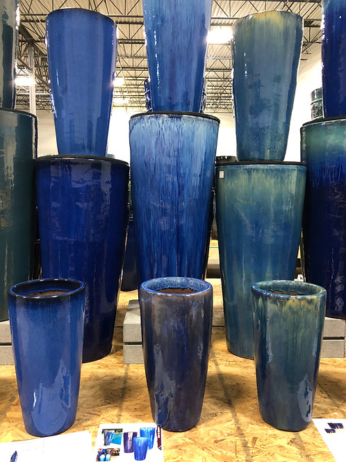 "Tall Round 37.4"" Ceramic Pot"