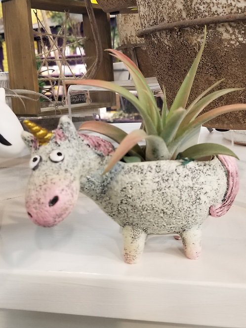Percival Unicorn Planter Resin