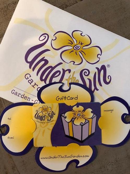 Under the Sun Gift Card