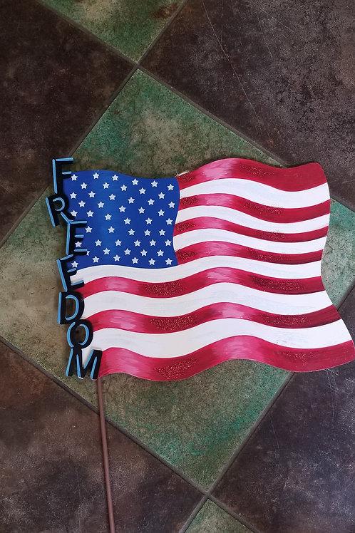 Freedom Metal Flag Stake/Hang