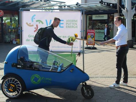 Zonnige actie winkelcentrum Maaswijk