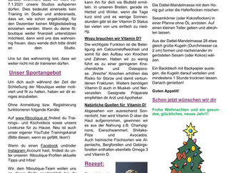 fitboutique Newsletter Dezember 2020