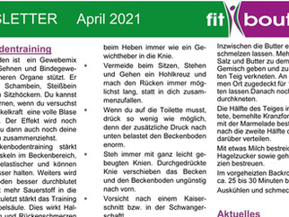 fitboutique Newsletter April 2021