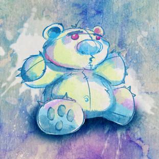 Watercolor Stuffed Bear