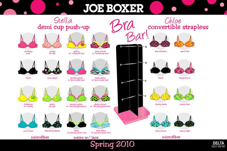 Joe Boxer Bra Bar Collection