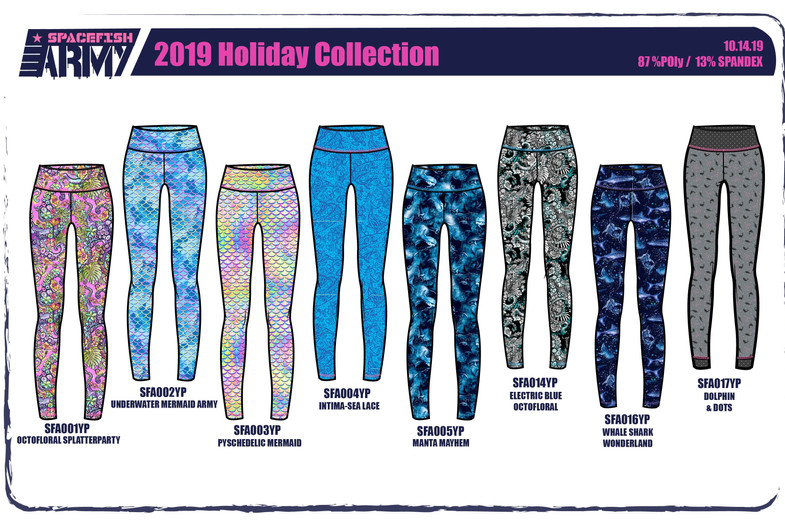 Spacefish Army Leggings Collection