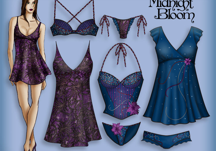 Midnight Bloom Lingerie Collection