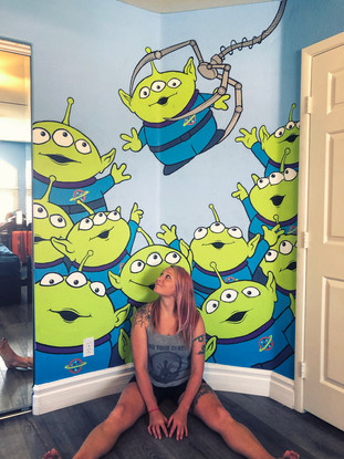 Toy Story Aliens Wall Painting
