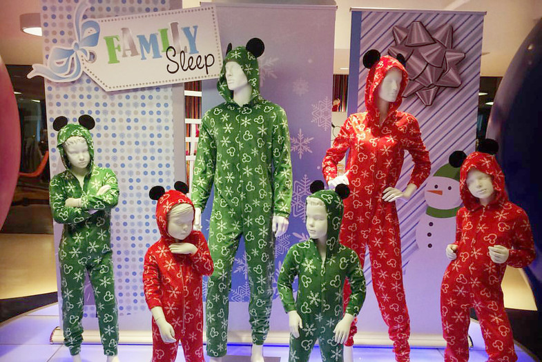 Family Sleepwear Display