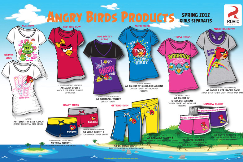 Angry Birds T-Shirt Collection