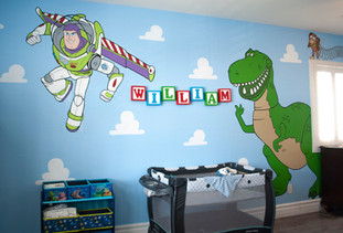 Toy Story Wall Paintings