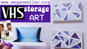 How to Recycle Old VHS Tapes - VHS storage Art!