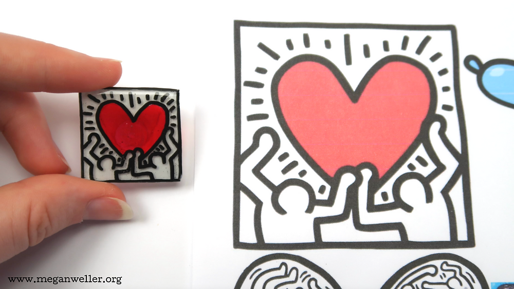 How much will Shrinky Dinks shrink? They will shrink down to about 1/3 of their original size. Keith Haring croc charms Jibbitz jewelry how to make