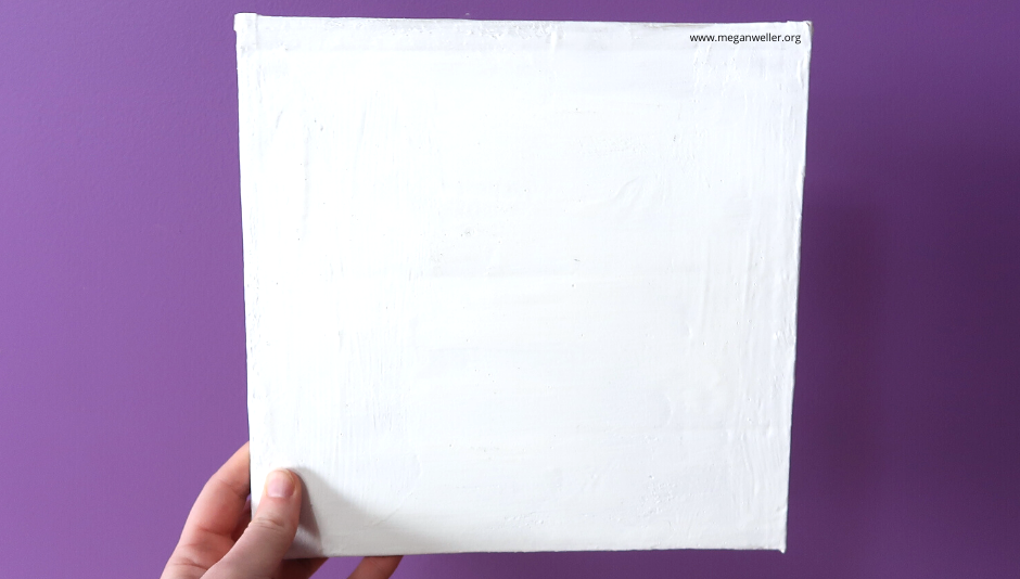 How to make a canvas using a cardboard box.