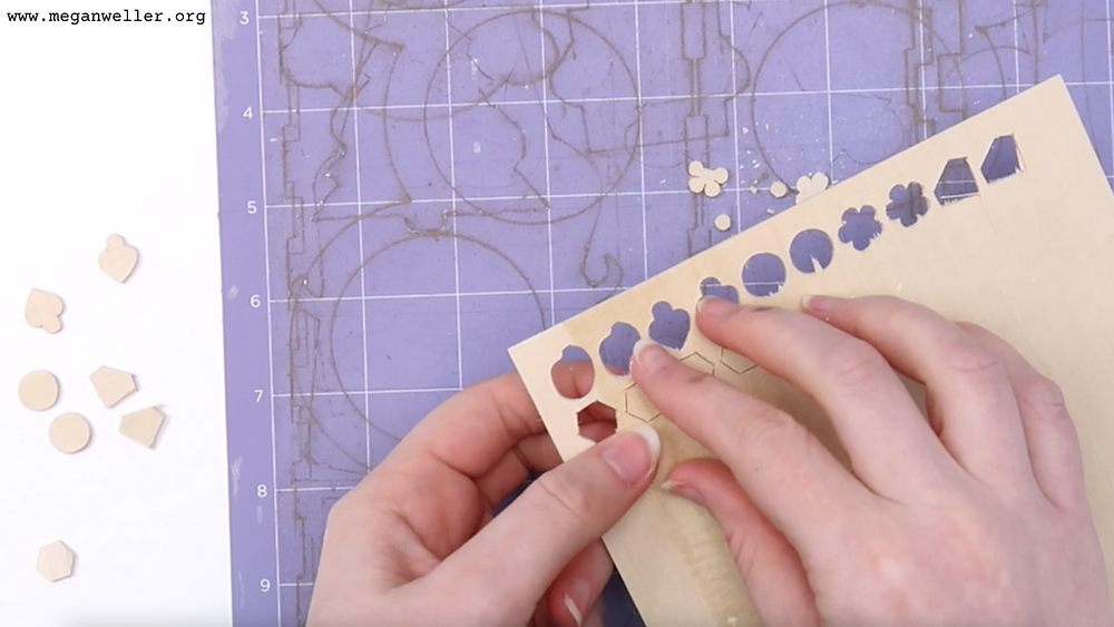 How to make stud earrings using a Cricut Maker and Basswood.