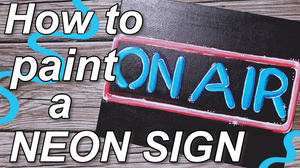 How to paint a Neon Sign using Acrylic Paint - Easy Canvas painting ideas