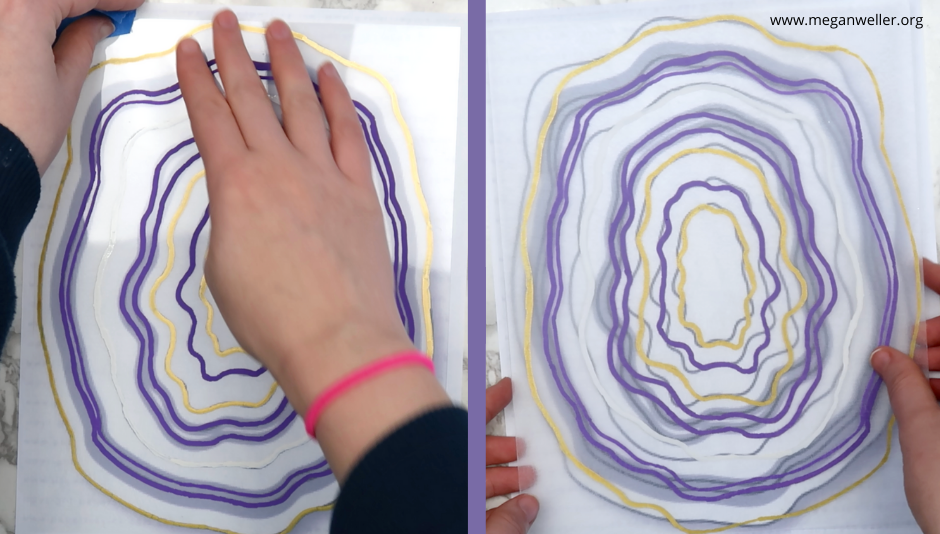 Remove the masking tape form the Shrinky Dink plastic, and flip it over once you've traced your design.