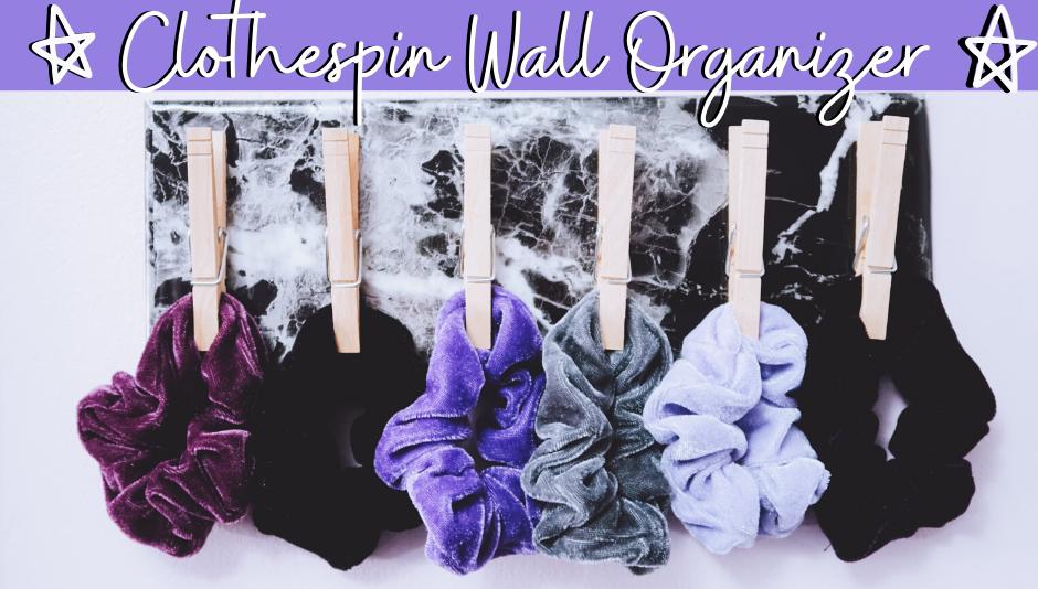 DIY Clothespin Wall Organizer