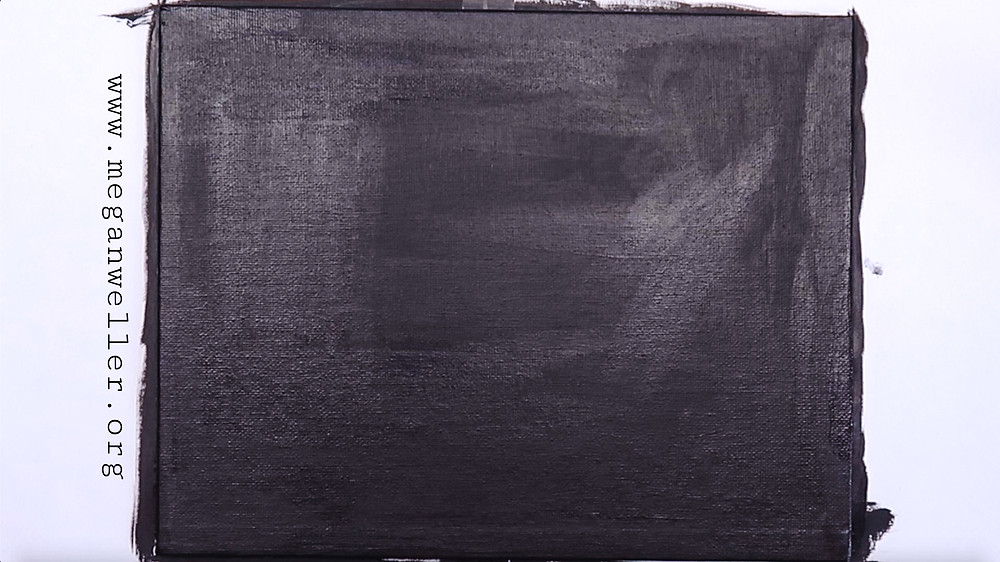 Paint your canvas or other surface with black acrylic paint.