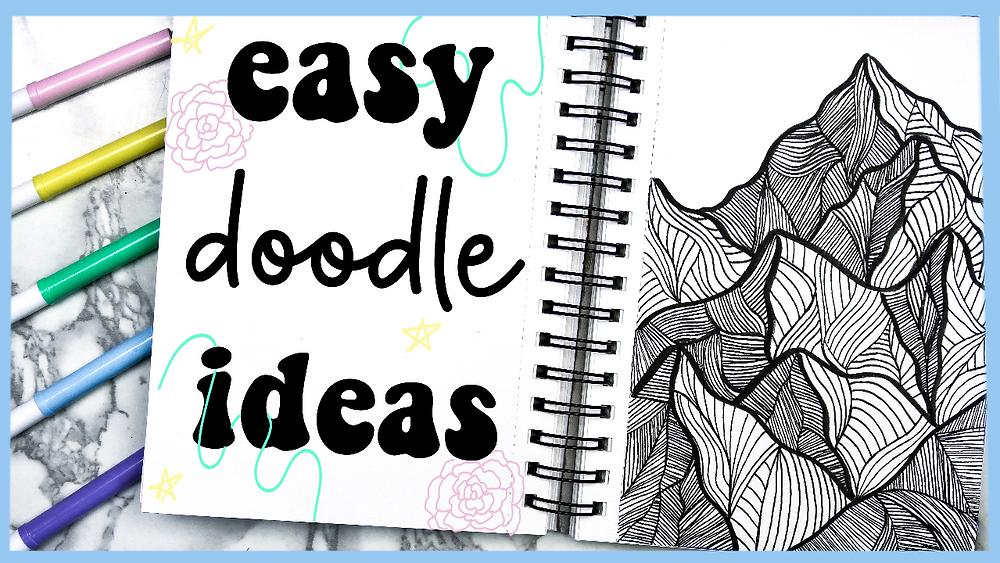 Easy Doodle/Zentangle Ideas for Beginners YouTube video by Megan Weller