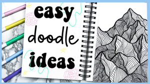 Easy Doodle/Zentangle Ideas for Beginners YouTube video by Megan Weller