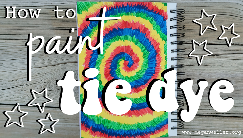 How to paint Tie Dye - Things to do when you're bored in summer 2020