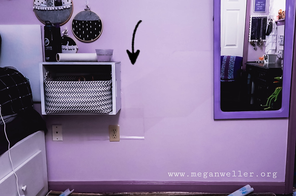 Stick contact paper to the wall and paint over it to create a DIY Removable Wall Mural.