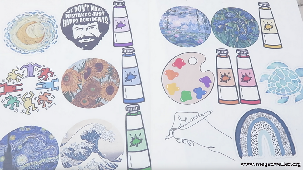 How to edit images for printable Shrinky Dinks. How to make printable shrinky Dinks. Printable Shrinky Dinks settings. Van Gough, Monet, Keith Haring, Bob Ross, paint tubes, paint palette, art hoe aesthetic, sea turtle, continuous line drawing, aesthetic rainbow, how to make Jibbitz/Croc charms.