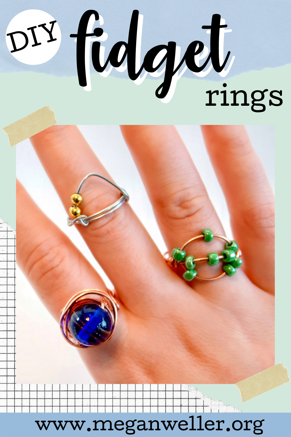 DIY Fidget Rings - and easy wire ring tutorial. How to make wire rings.