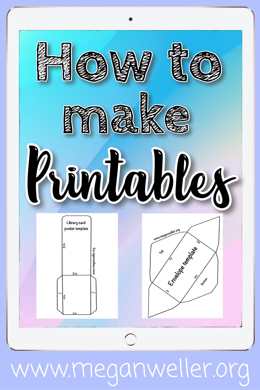 How to make printable for your website/blog/YouTube channel