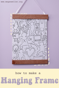 How to make a faux wooden frame using cardboard boxes. Inspired by the hanging frames from Urban Outfitters.