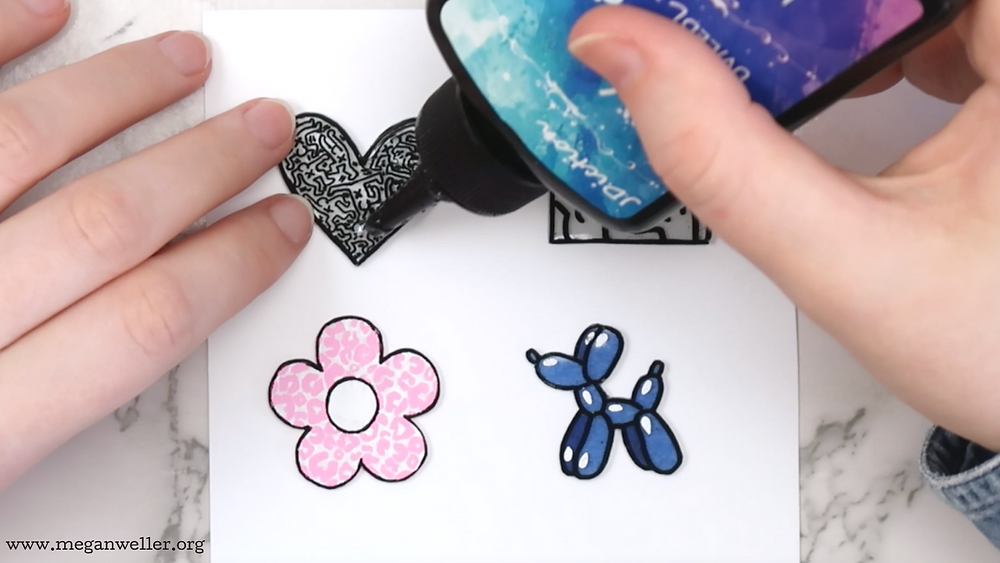 How to cover shrink plastic shrinky dinks with uv resin.