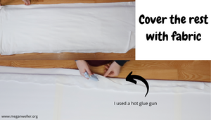 Cover the batting with a layer to fabric to complete the base of the headboard.