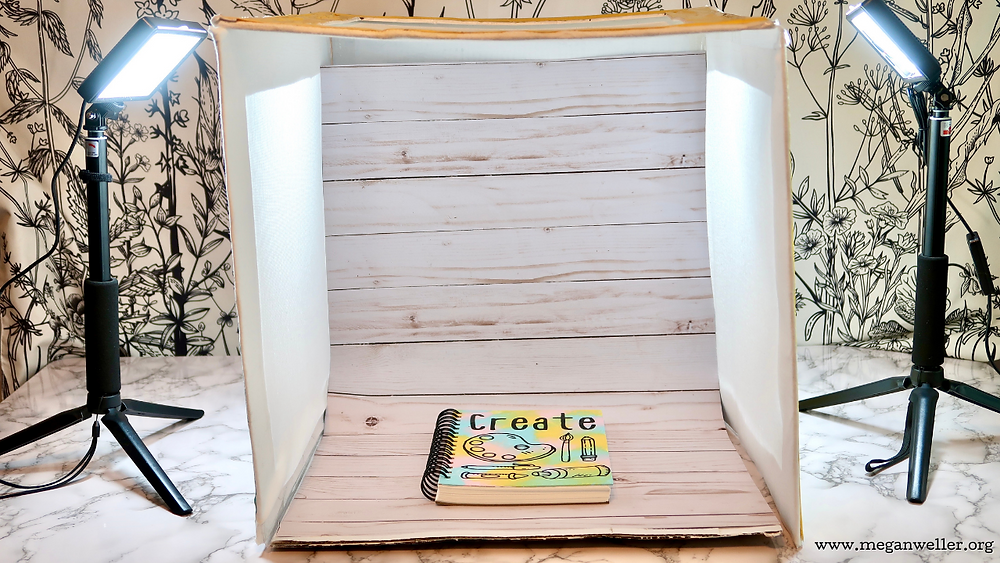 How to improve your photography with a cardboard box. How to make a DIY portable folding photo studio. How to improve your product photography.