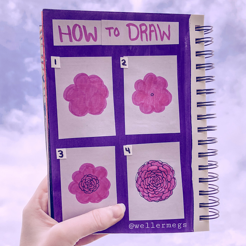 How to draw a rose, rose drawing tutorial step by step