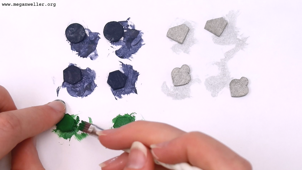 Paint the basswood pieces with acrylic paint. Painting ideas, painting tutorial, how to paint.