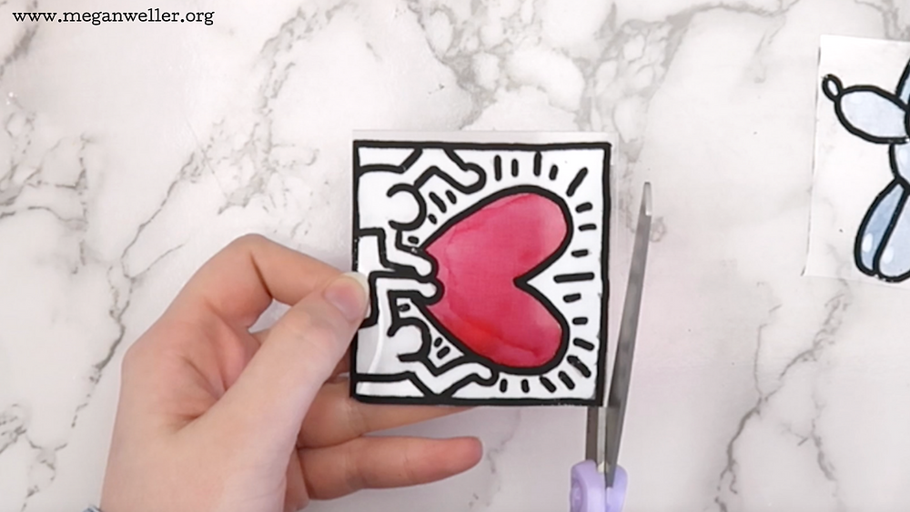 Cut out the shrinky dinks. Things to make with Shrinky Dinks. How to use Shrinky Dinks. Shrinky Dink ideas.