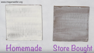 Homemade vs. Store bought Gesso