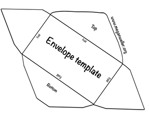 Envelope template, 8.5 by 11 paper. FREE printable!
