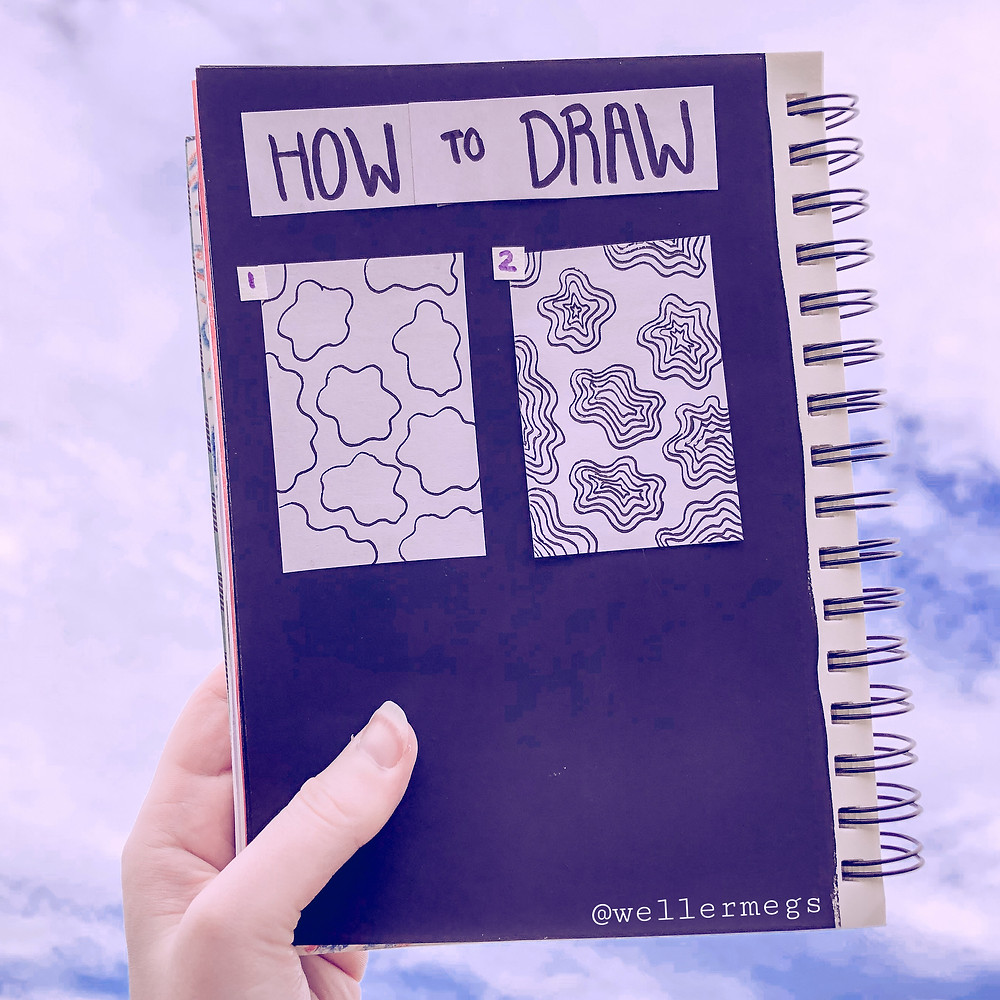 How to draw/doodle cow print style blobs, easy doodle ideas