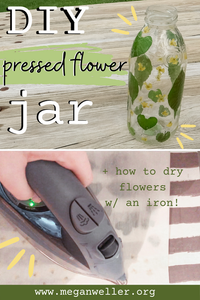 Things to make with pressed flowers - how to press flowers with an iron!