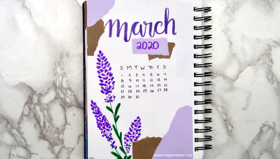 March Bullet Journal Ideas 2020