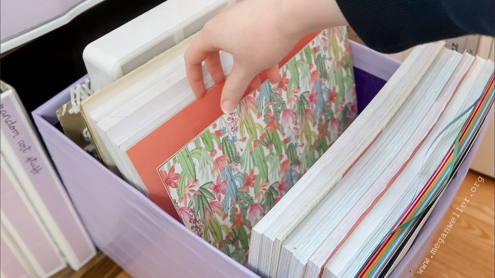 How to organize scrapbook paper in your craft room.