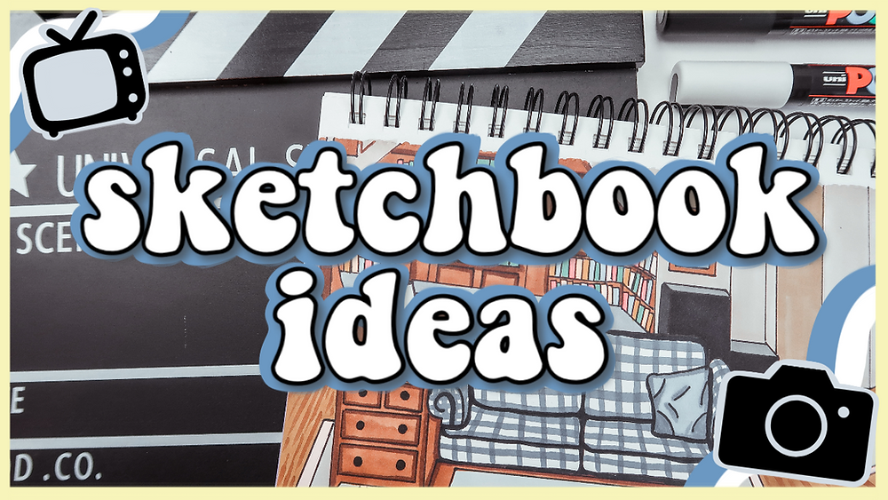 5 Ways to Fill your Sketchbook - TV/Movie Edition! How to draw, drawing tutorial, drawing ideas for beginners.