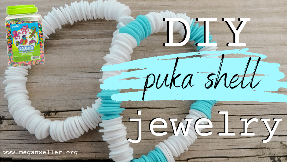 How to make a Puka Shell Bracelet/Necklace with Perler Beads/Hamma Beads