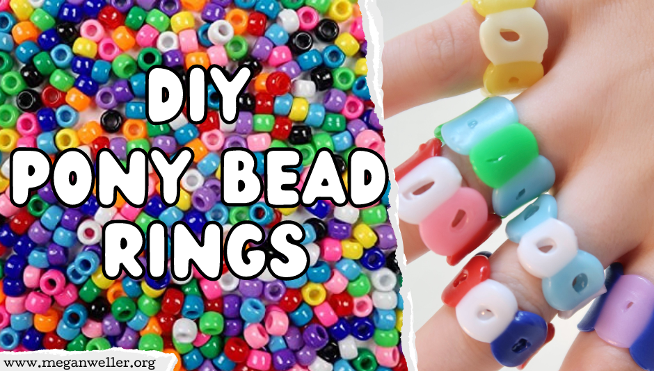 How to make rings with pony beads and a hair straightener / flat iron. Things to do when you're bored.