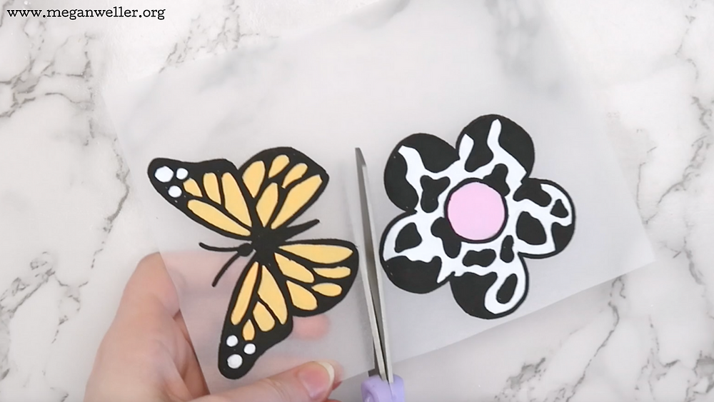 Cut the Shrinky Dinks out with scissors.