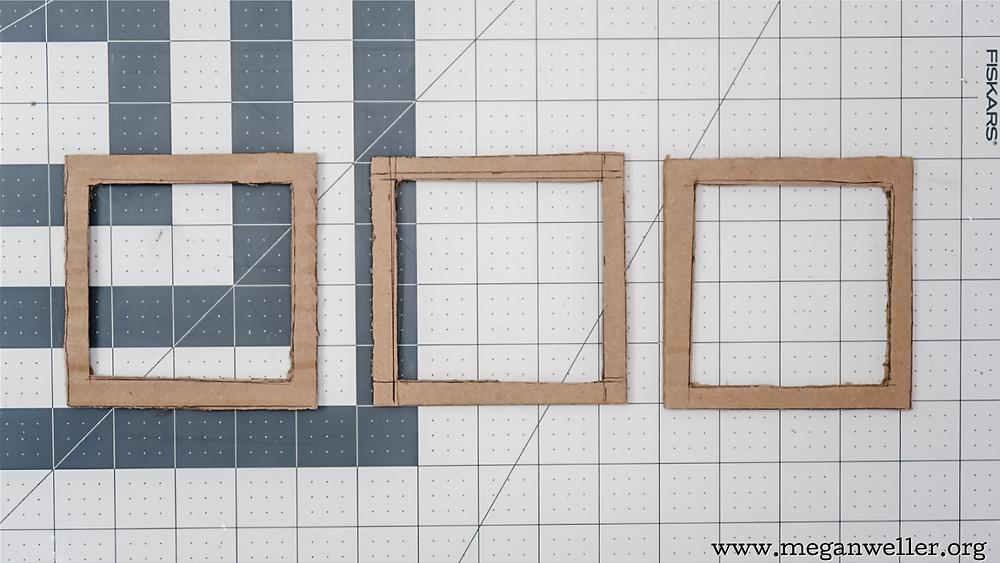 3 cardboard frames